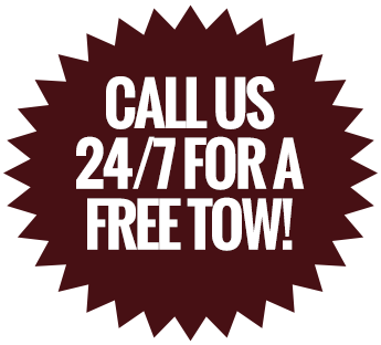 Call Us 24/7 for a Free Tow!